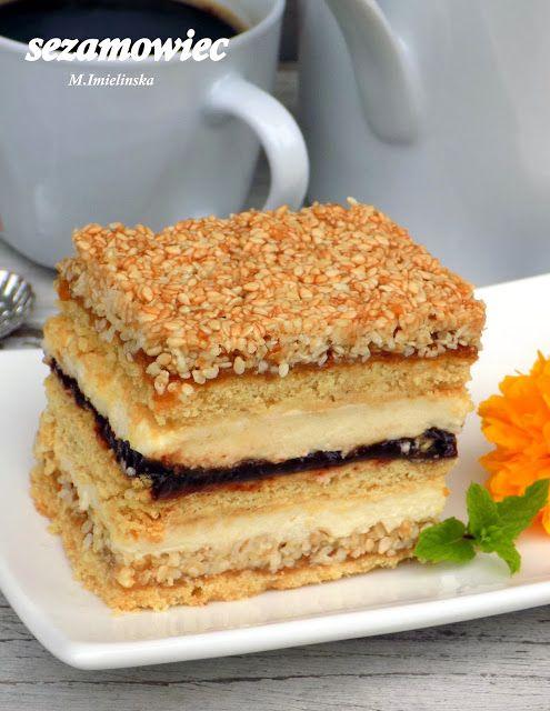 Domowa Cukierenka Domowa Kuchnia Sezamowiec Desserts Cooking Recipes Food