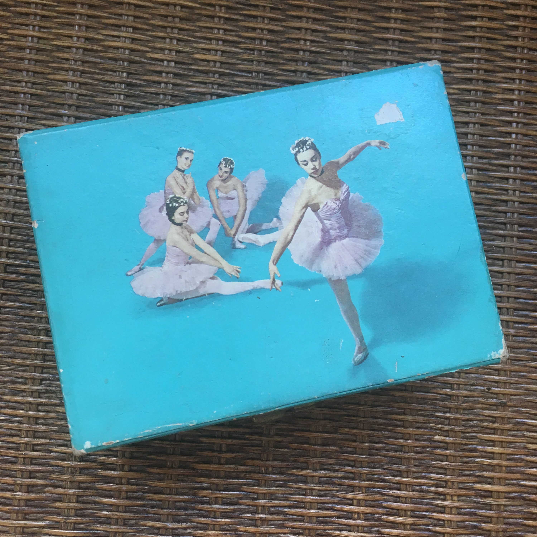 Vintage Ballerina Jewelry Box BallerinasDancers Illustrated