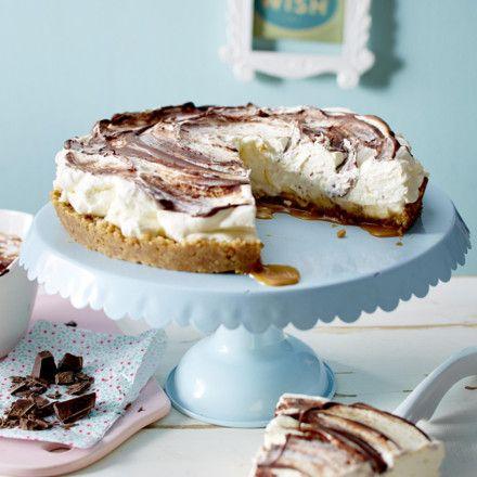 Banoffe-Pie mit Schokoswirl Rezept