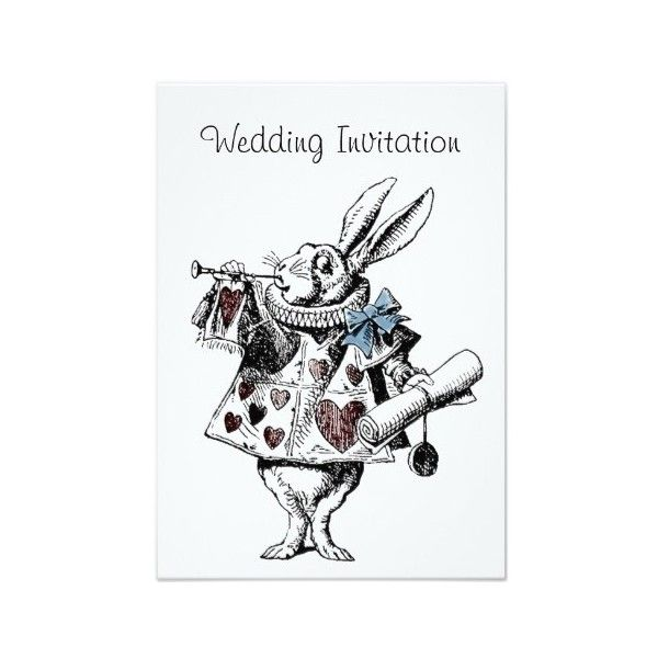 Alice in Wonderland wedding invitations ❤ liked on Polyvore featuring accessories