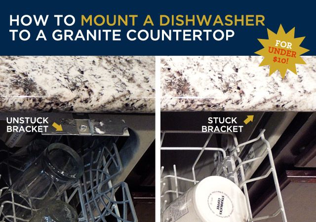 How To Mount A Dishwasher Under A Granite Countertop Granite Countertops Countertops Diy Countertops