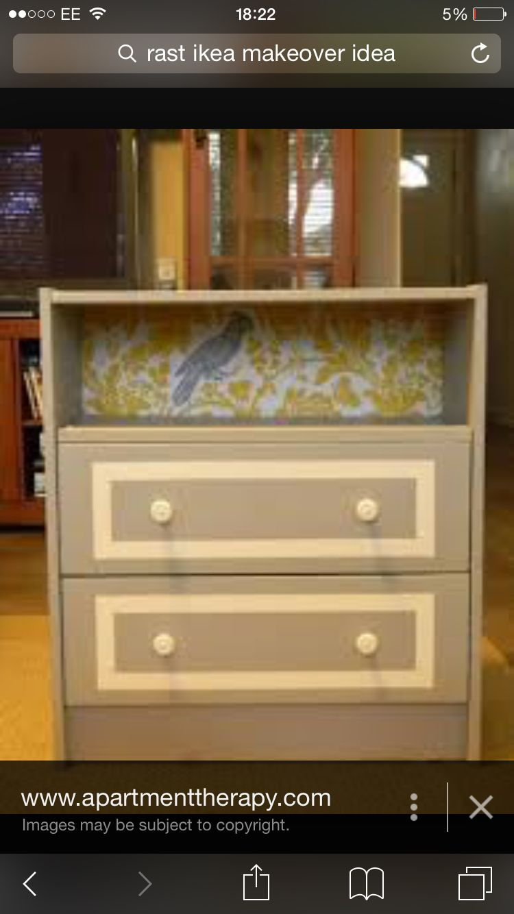 To Fix The Broken Top Drawer Ikea Rast Ikea Rast Dresser Diy Dresser