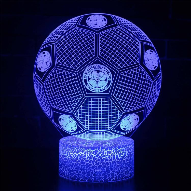 The Celtic Football Club Fussball Nachtlicht Schreibtischlampe Tischlampe 3d Illusion Lampe Fur Kinder Geschenk Character Spiderman Shopping