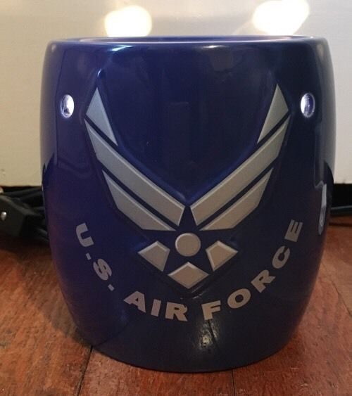Blue US Air Force Scentsy Warmer w Bulb Missing Tart Dish Working   eBay
