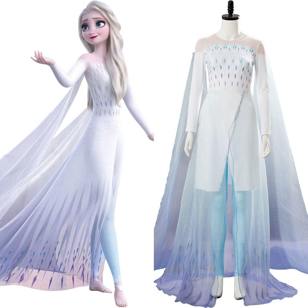 Eiskönigin 2 Kleid von Elsa Frozen Prinzessin Kinder Cosplay Kostüm Costume