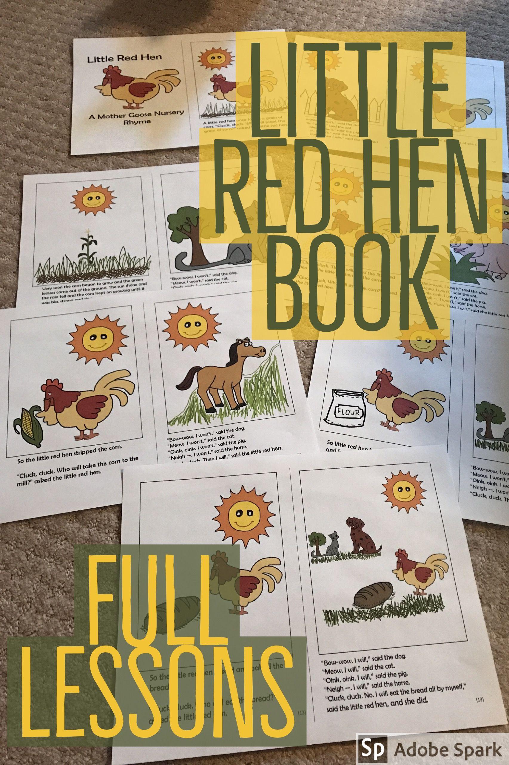 Little Red Hen 1st Grade Ela Wordless Books Ela Centers
