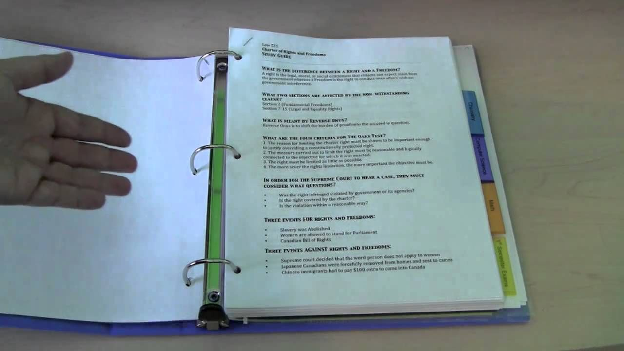 How to Make Your Own Exam Binder   School organisation