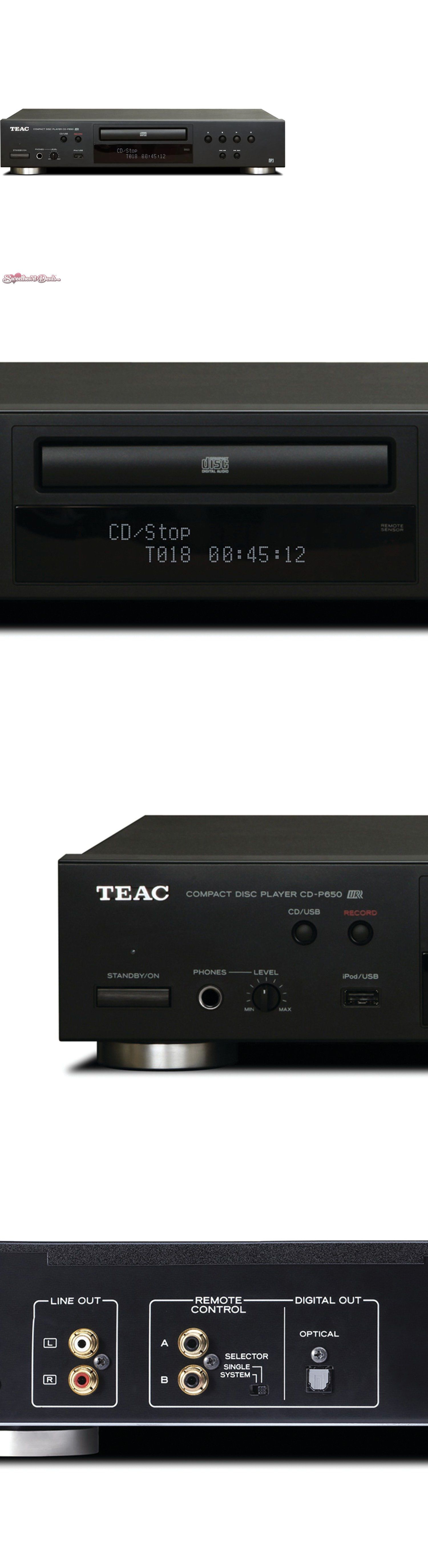 Teac CD-P650-B Compact Disc Player with USB and iPod Digital Interface Black