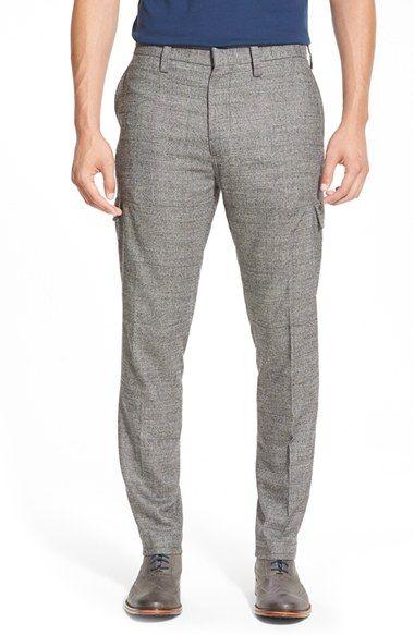 Men's J. Lindeberg 'Mod' Glen Plaid Loro Piana Wool Cargo Pants ...