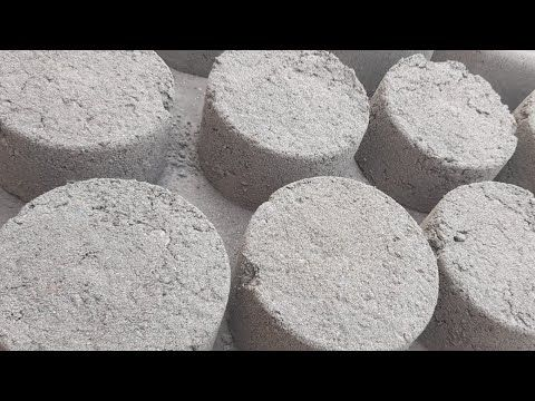 gritty sand cement bowls crumbling bucket | ASMR |