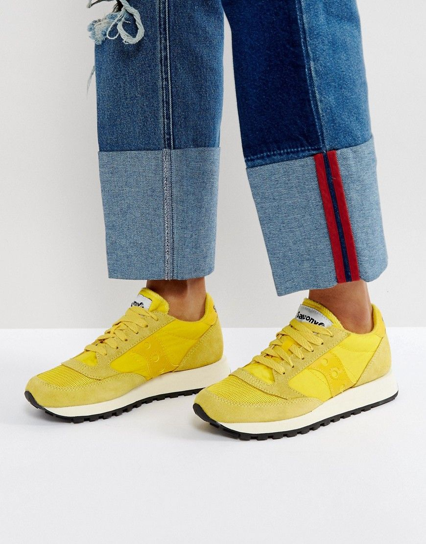purchase cheap 4ff6f 34689 SAUCONY JAZZ O VINTAGE SNEAKERS IN YELLOW - YELLOW. #saucony ...