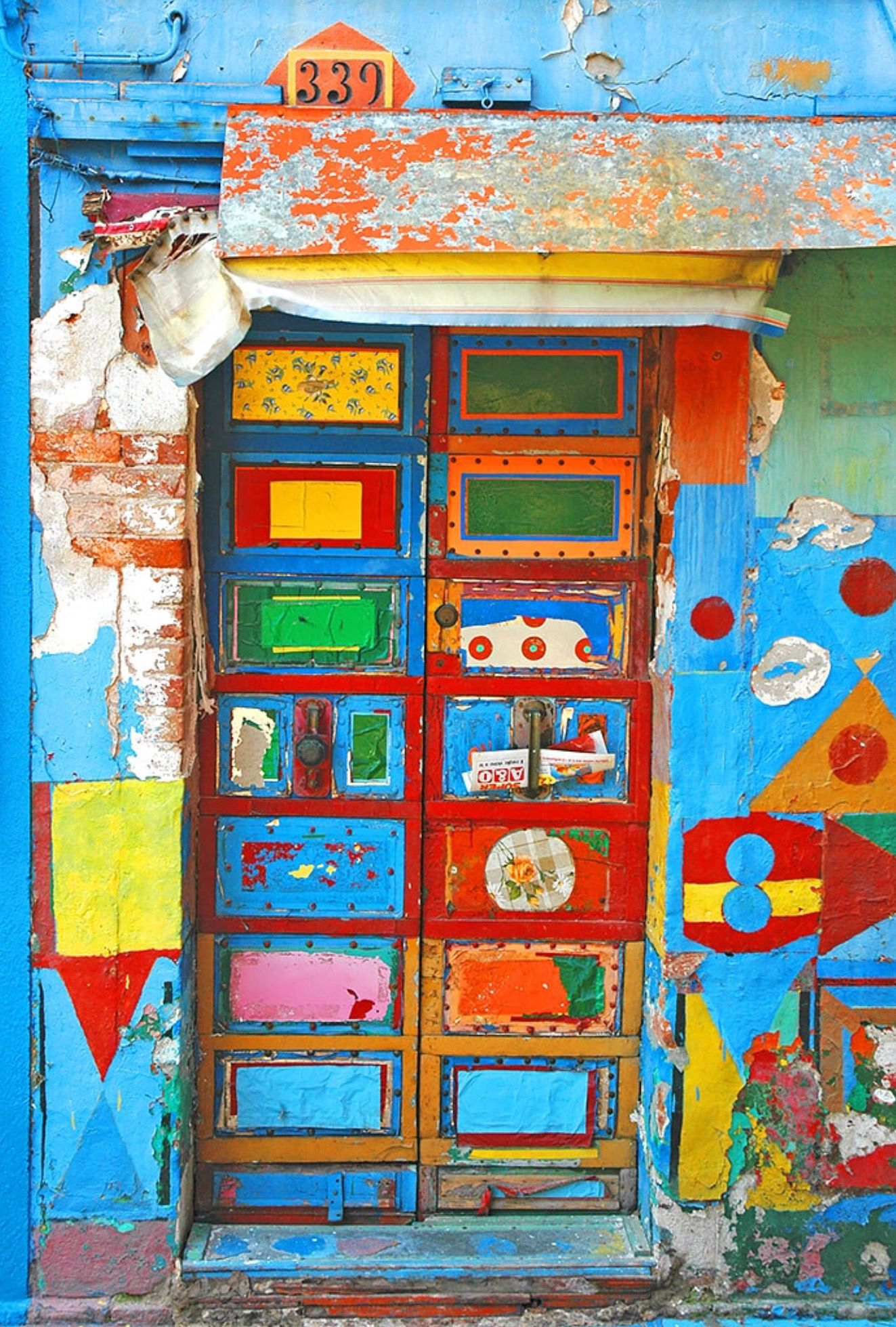 Beau Colourful Door From Burano, Italy. Photo By John C.