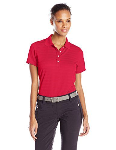Callaway Womens Golf Textured Performance Short Sleeve Polo Shirt Chili Pepper XXLarge *** Check out this great product.