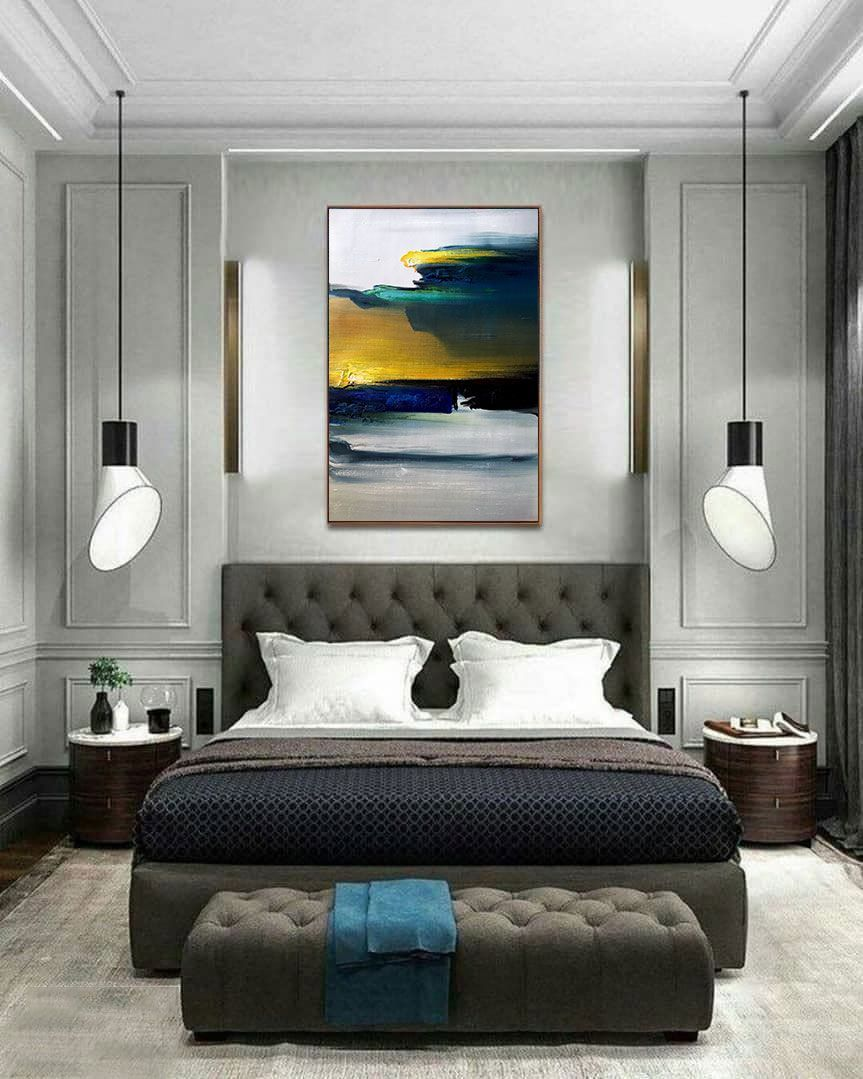 Palette Knife Art Wall Art Luxury Bedroom Design Interior Design Bedroom Boho Dining Room Art sample bedroom furniture