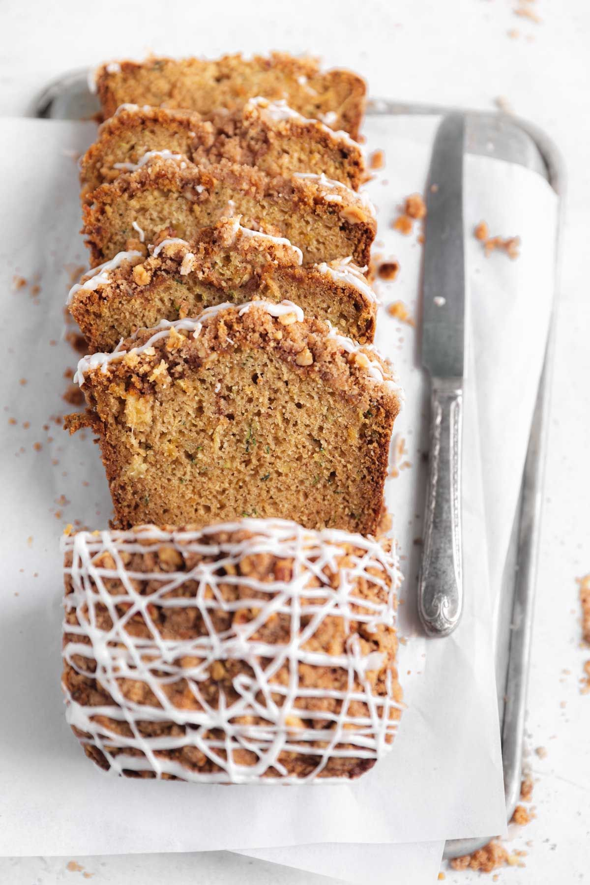 the best zucchini bread with a crumb topping in 2020