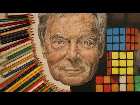 Drawing Erno Rubik by @kitslam | Watch the Video: https://www.youtube.com/watch?v=nG6P4VCzPlo