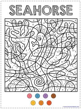 Color By Number Ocean Animals Coloring Pages Ocean Coloring Pages Animal Coloring Pages Coloring Pages