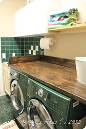 Lovely Diy Laundryroom Counter. Love The Chunky Look That The 2x10u0027s Give! Laundry  TableLaundry RoomsFolding ...
