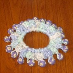 Crochet Beaded Hair Scrunchie ~ FREE Crochet Pattern