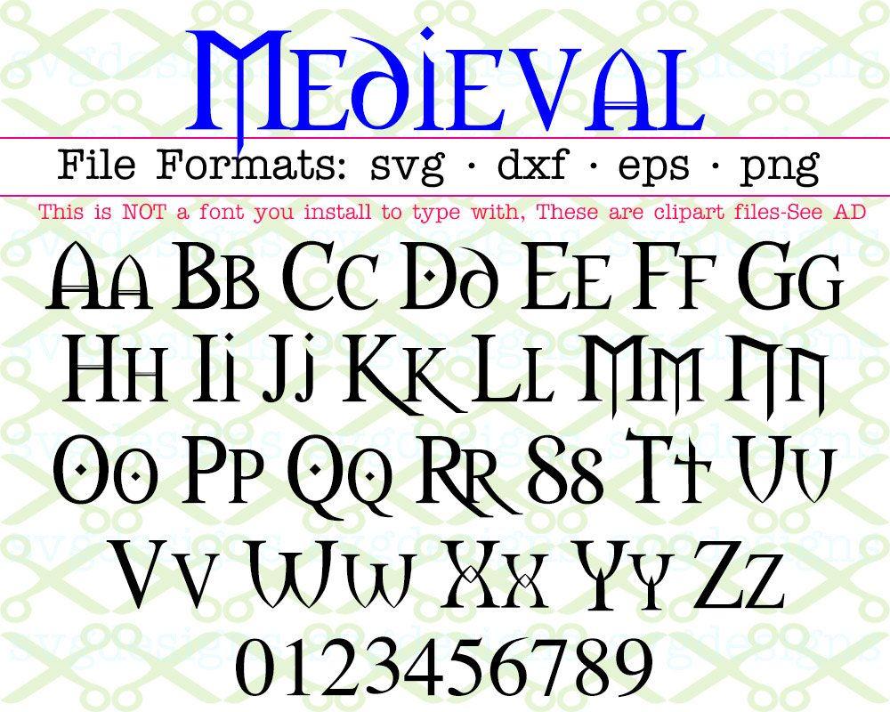 Medieval Font Svg Dxf Eps Png Gothic Letters Fairy Tale Etsy Fonts Alphabet Lettering Alphabet Lettering Alphabet Fonts