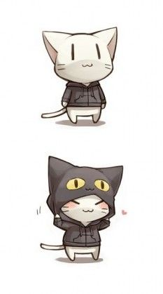 ร ปการ ต นน าร ก โหลดภาพการ ต นน าร ก ค ดมาแล วว าน าร กโดนใจ Chibi Cat Cat Design Illustration Cute Art