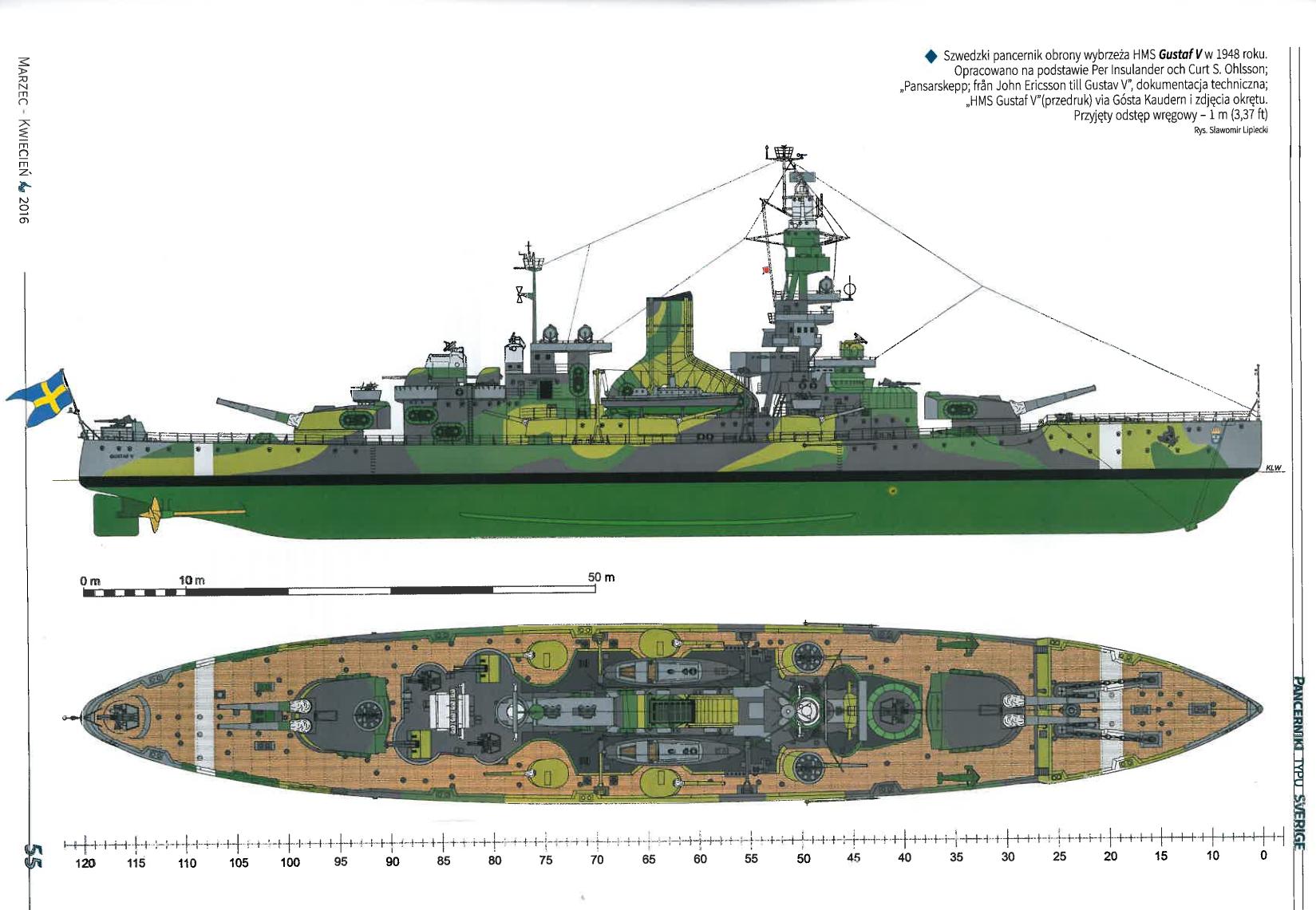 Hswms Gustaw V  Sverige Class Coast Defence Ship