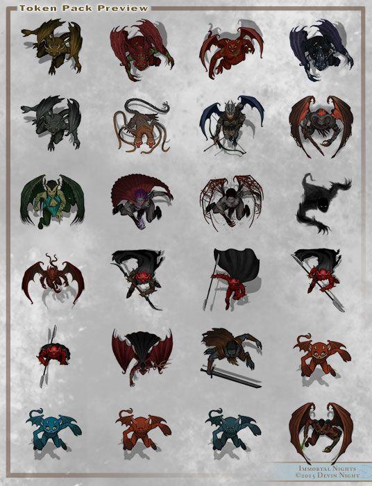 Fantasy Grounds - Top Down Tokens - Demons in 2019   Token   Fantasy