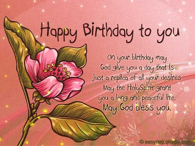 1000 ideas about Christian Birthday Wishes – Religious Birthday Card Messages