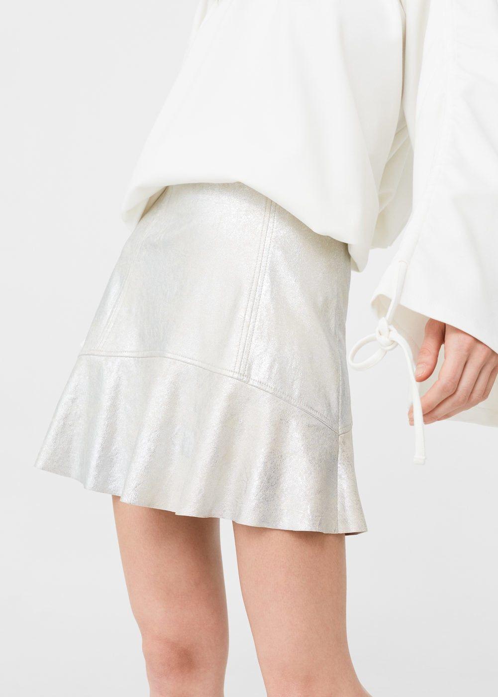 Mujer Y Pinterest Moda Metalizada Pelo Falda Manga Faldas U5x6PFfnqw