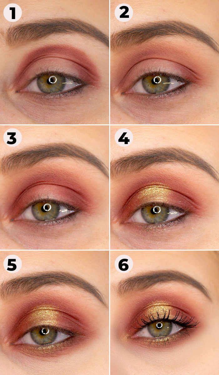 festliches goldenes Augen Make Up Tutorial