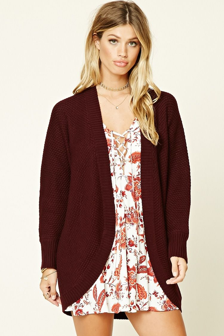40321bbea0 LARGE A soft double seed knit sweater cardigan featuring a ribbed trim