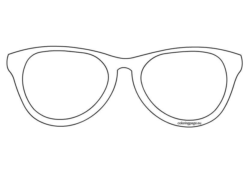 Sunglasses Template Coloring Page Summer Coloring Pages Coloring Pages Emoji Coloring Pages