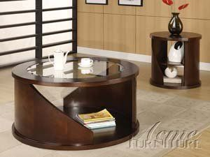 Beautiful Glass Top Occasional Coffee Table Set Acs108445 108446