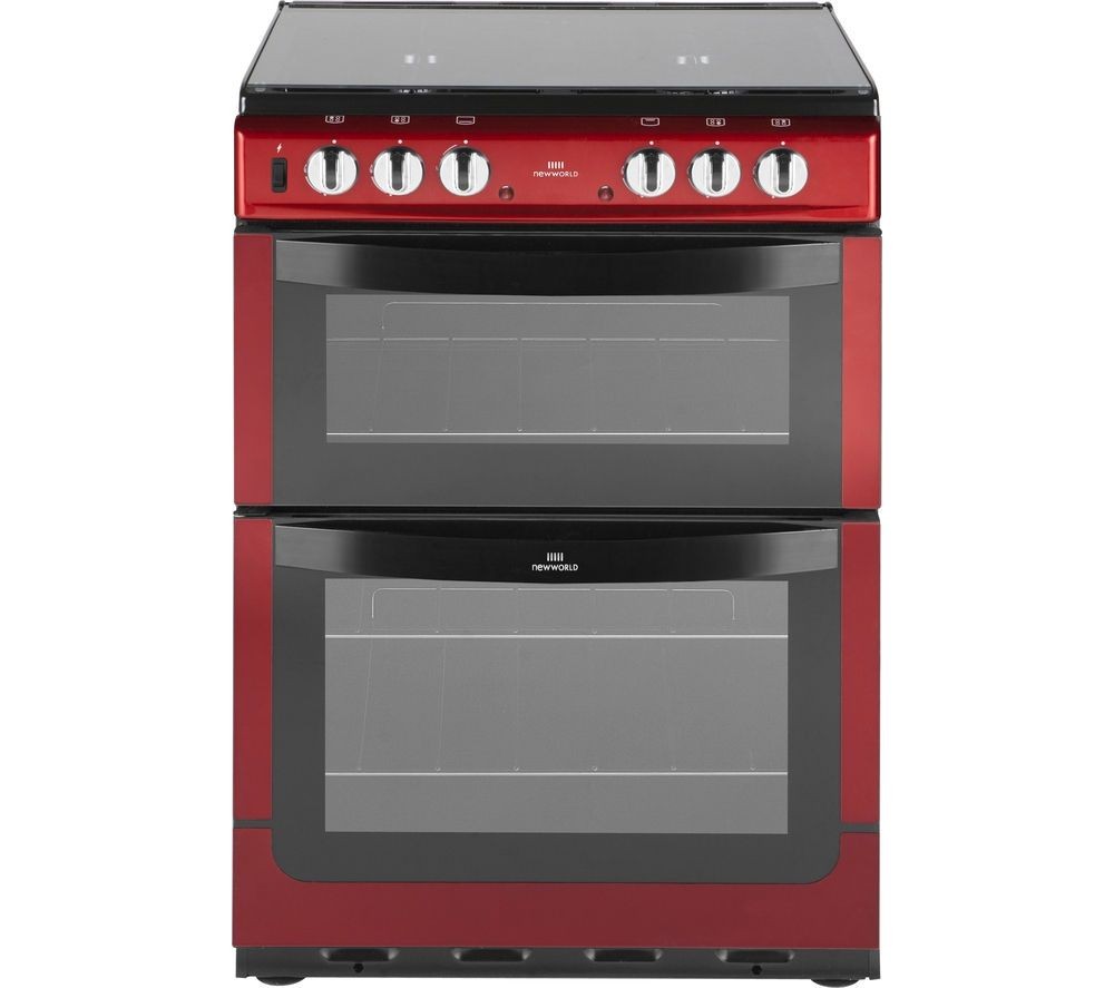 NEW WORLD 601DFDOL Dual Fuel Cooker Red Freestanding