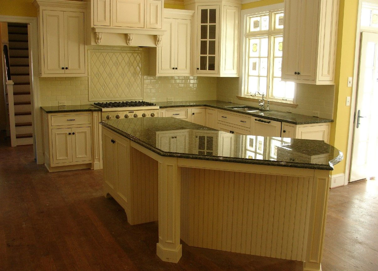 i hate my green countertops! but they might look better