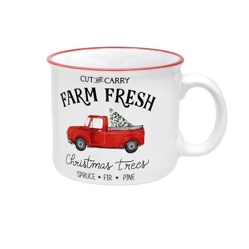 St. Nicholas Square Christmas Tree Truck Coffee Mug