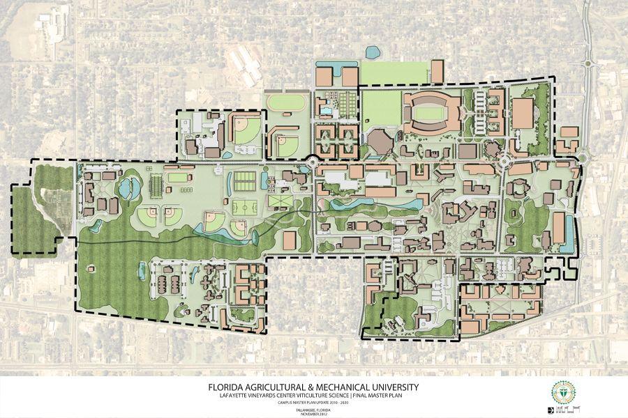 Florida A M University Campus Master Plan Master Plan University Campus Campus Design