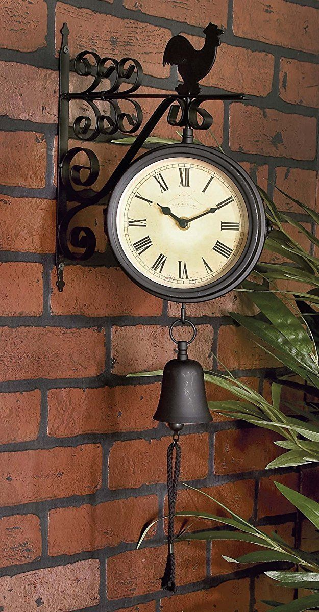 Deco 79 35412 Metal Outdoor Double Clock 10 By 22 Inch Clock Wall Clock Antique Wall Clock