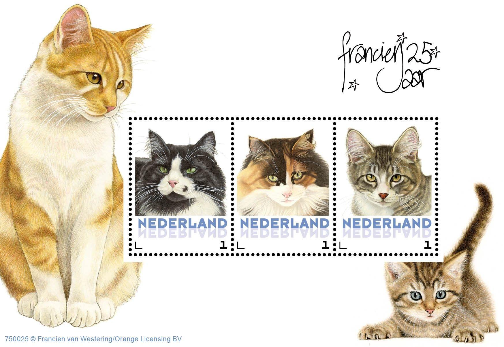 Postset Franciens katten 5 - Postsets - Postzegelproducten