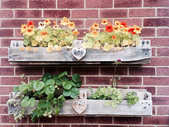 Window Box Wall Planter from Reclaimed Wood | Pallet home ...