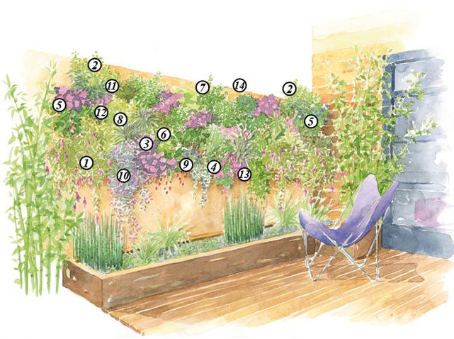Comment cr er une fresque v g tale mur v g tal - Comment faire un jardin vertical ...