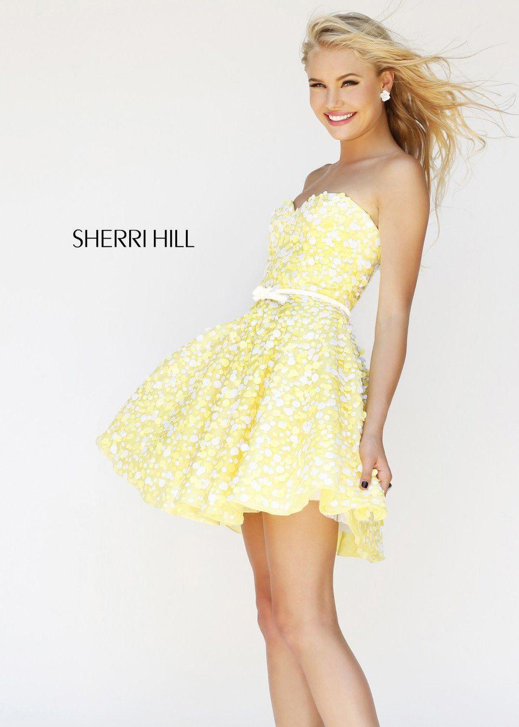 eb1e13ad04 Sherri Hill 11117 Strapless Cocktail Dress