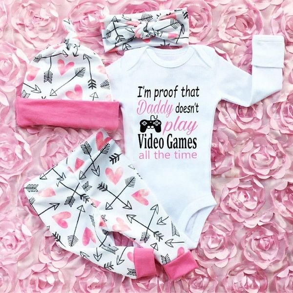 Newborn Baby Bodysuit Summer Clothes Boys Girls Jumpsuit Outfits Baby Gifts P8H7