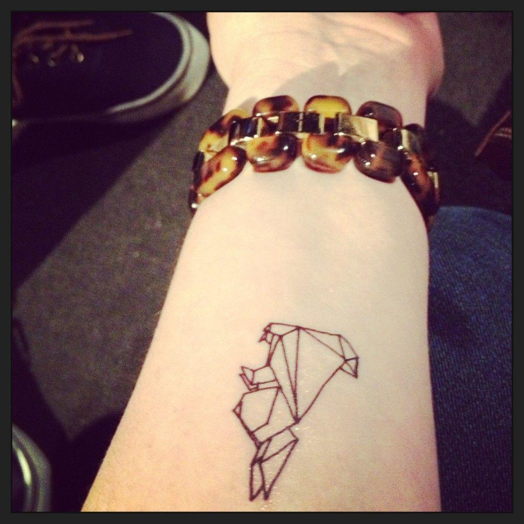 tattoo little origami bunny tattoo pinterest