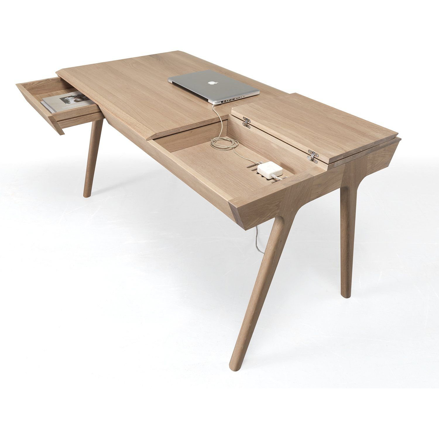Metis Desk In 2020 Wood Desk Design Modern Wood Desk Wood