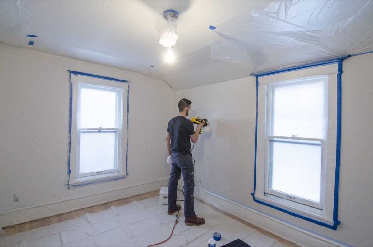 Yes You Can Use A Paint Sprayer Indoors Our Spare Room Makeover