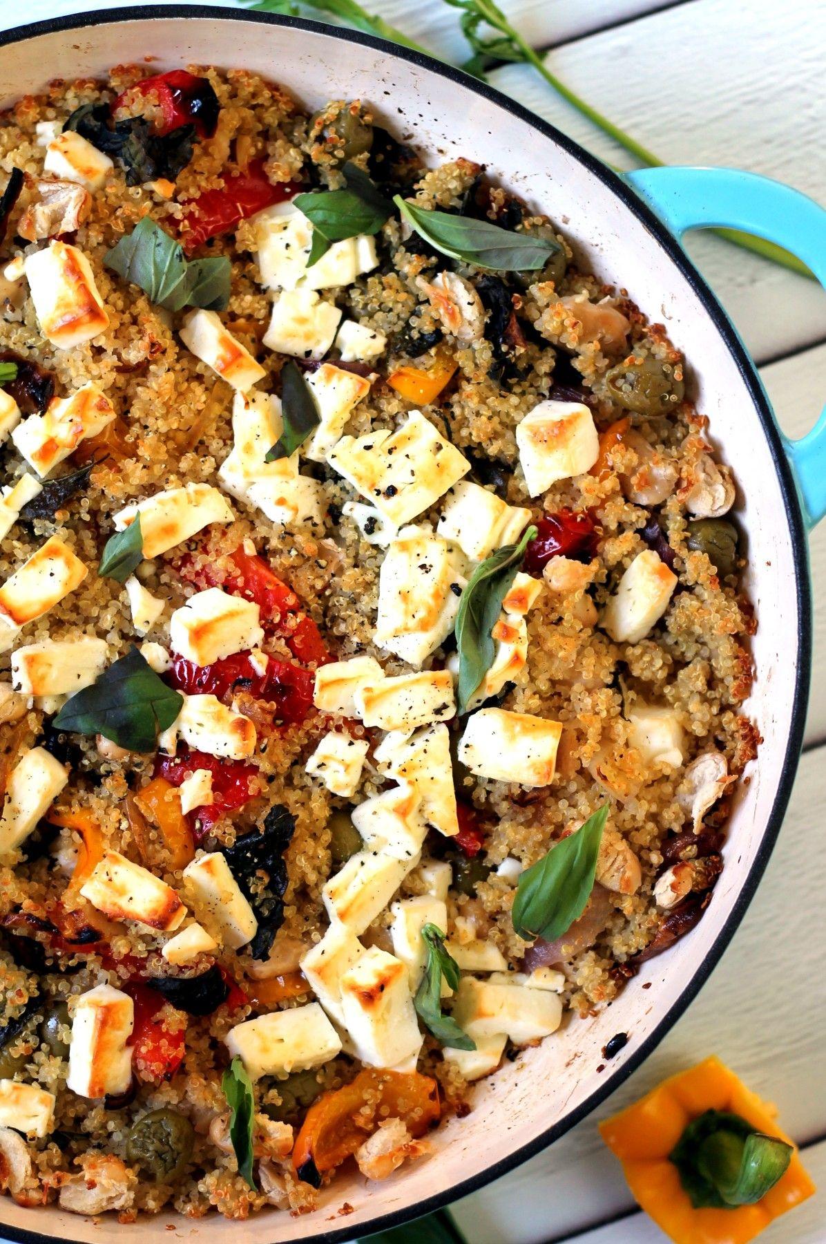 Roasted Vegetable Feta Cheese Quinoa Bake