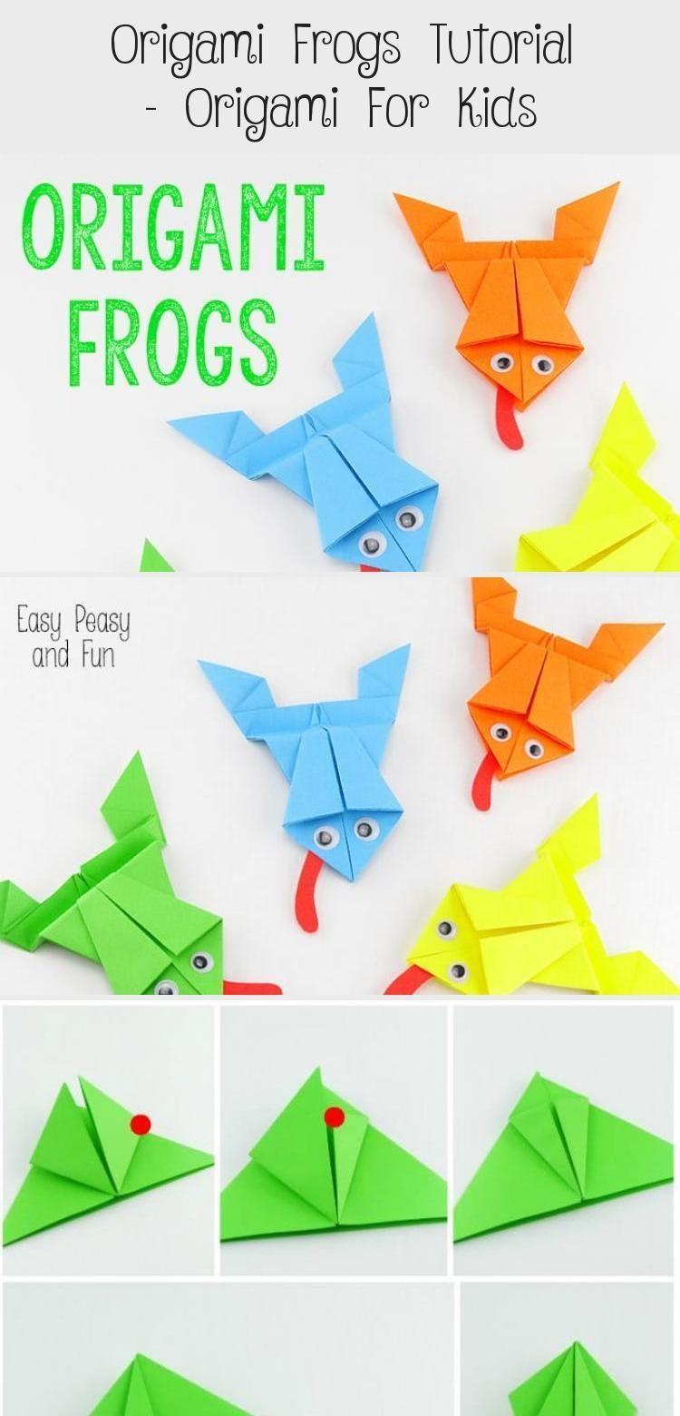 Photo of Origami Frösche Tutorial – Origami für Kinder #origamiArquitectura #Diyorigami #orig …, #diOri …