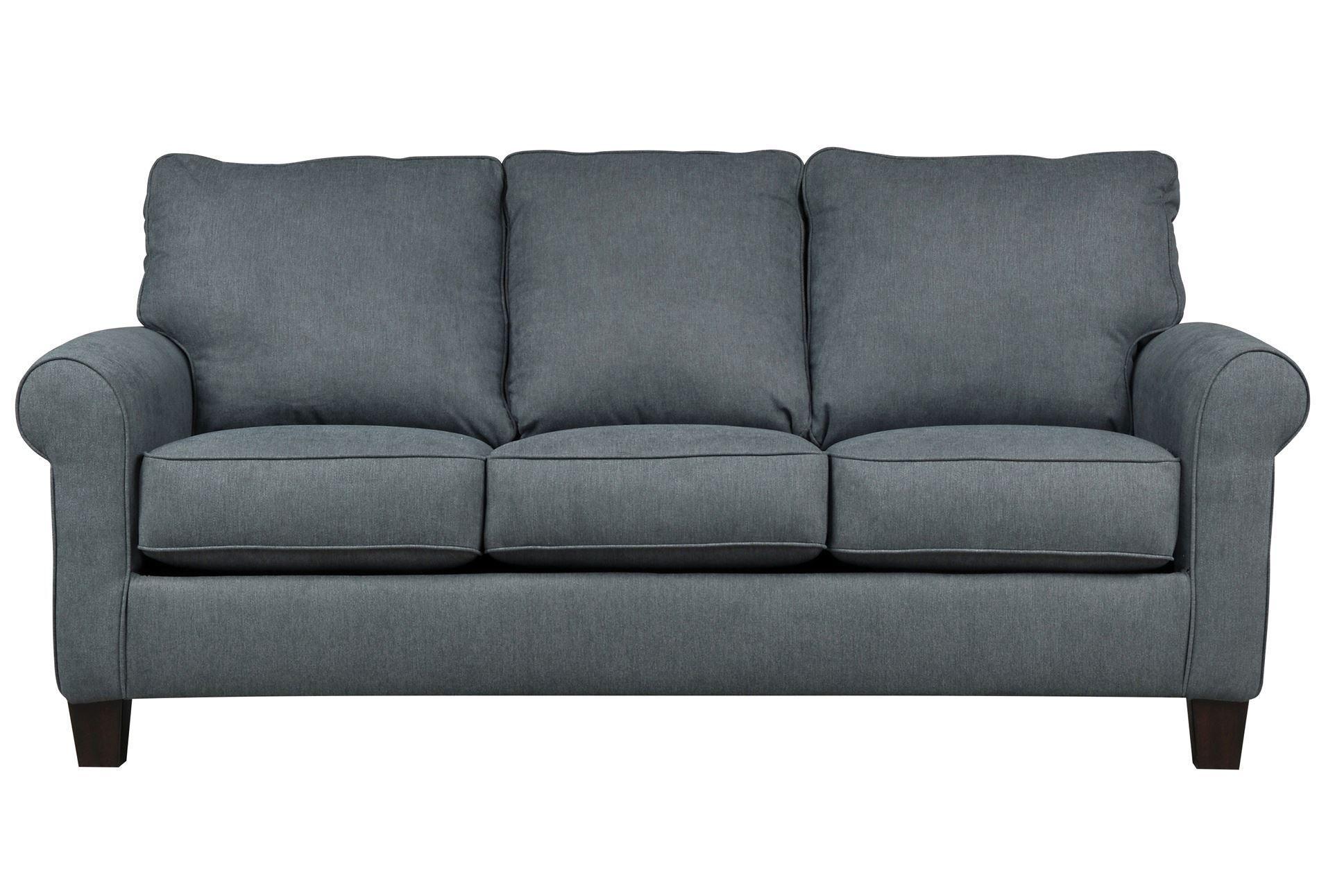 Living Spaces Sleeper Sofa.Zeth Denim Full Sofa Sleeper Signature Sugarshack