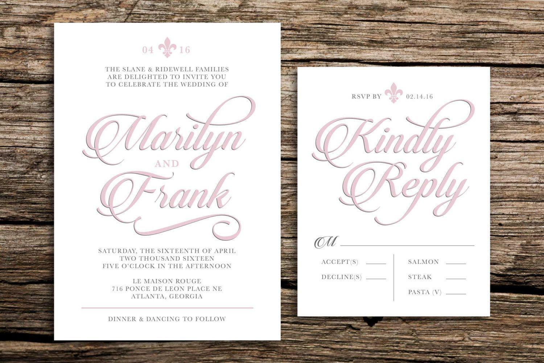 Old World Wedding Invitation // French Blue Wedding Invitations ...